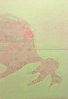 木村真由美「うつくしいそら・ふ2」シルクスクリ-ン 60.6X91cm2点組